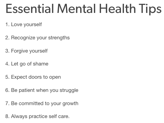 Essential Mental Health Tips